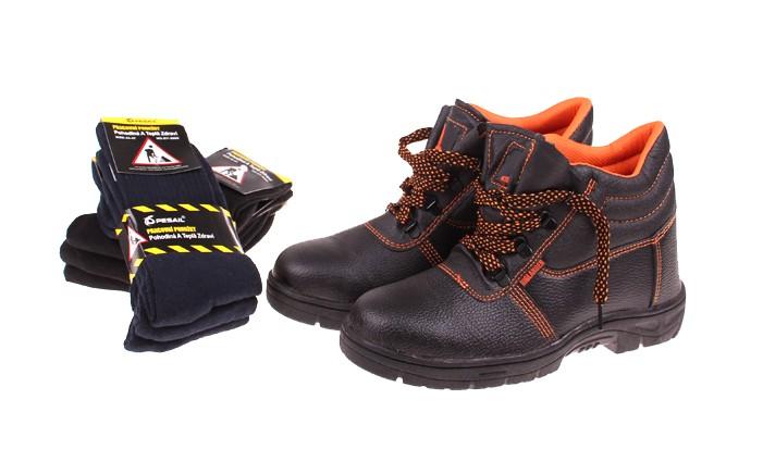 Pracovná obuv s 6 páry ponožiek  c05ff29b9d9