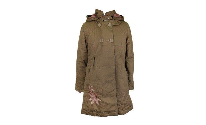 Dievčenské dlhý kabát khaki veľ. 92  ad9c69f0988